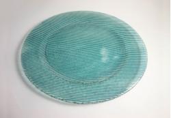 Plato circular en color aguamarina