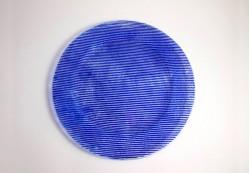 Plato circular en color azul