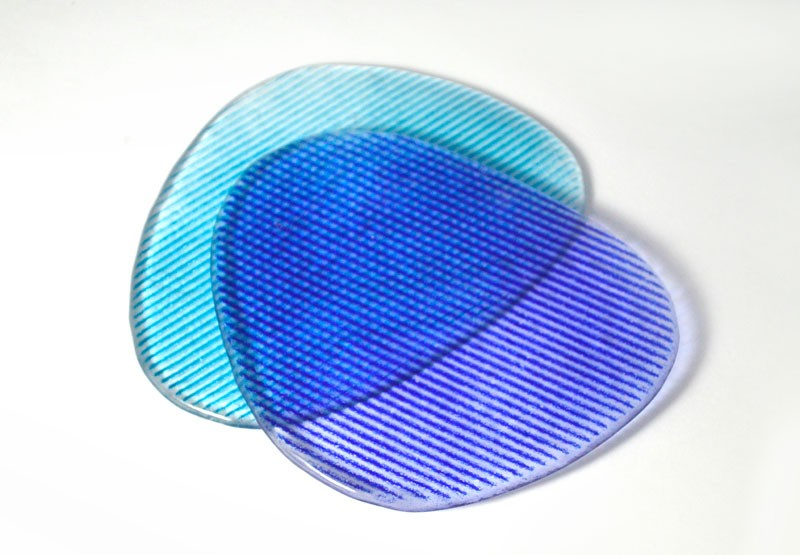 Posavasos en color aguamarina y azul